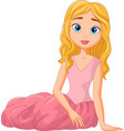 cartoon of beautiful princess vector image