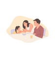 childhood and parenthood concept vector image vector image