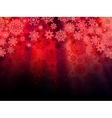 Christmas red background with snowflakes EPS 10 vector image