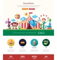circus carnival party website header banner vector image