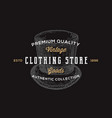 clothing store retro typography abstract vector image vector image