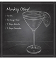 Cocktail Monkey Gland on black board vector image vector image