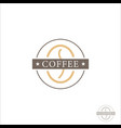 coffee beans logotype cup glass with coffee vector image vector image