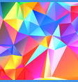 colorful geometric pattern mosaic background vector image vector image