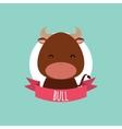Cute Cartoon bull vector image vector image