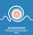 diaphragm icon Aperture sign Blue and white vector image