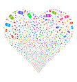 discount tag fireworks heart vector image vector image