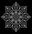 dot art snowflake design - christmas vector image