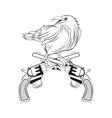eagle gun tattoo animal design vector image