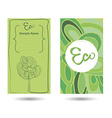 Eco business card vector image