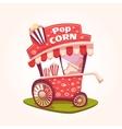 flat of Pop Corn cart vector image vector image