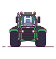 front view of farm tractor vector image