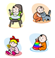 funny child in cartoon style vector image vector image