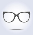 glasses icon on gray background vector image vector image