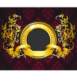 golden ring composition vector image vector image