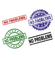 grunge textured no problems stamp seals vector image vector image