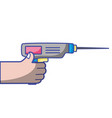 hand with drill equipment repair service vector image