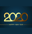 happy new year 2020 background vector image vector image