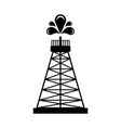 isolated oil tower icon vector image vector image