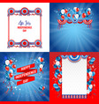 july fourth frames vector image vector image