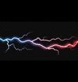 lightning thunder bolt electricity flash spark vector image