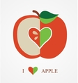 Love Apple vector image vector image