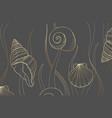 luxury gold underwater sea plants background vector image vector image