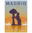 Madrid vintage poster vector image vector image