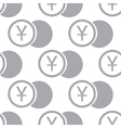 New Yen coin seamless pattern vector image vector image