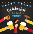 octoberfest beer festival colorful poster vector image