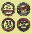 pastel color vintage labels collection 5 vector image vector image