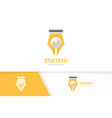 pen and graph logo combination write and vector image vector image