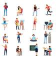 people hobbies photographer happy teenage artist vector image vector image