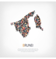people map country Brunei vector image vector image