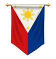 philippines pennant vector image