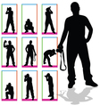 photographer silhouette in box vector image vector image