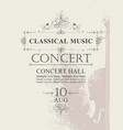 poster for concert of classical music with violin vector image vector image