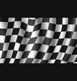 racing flag 3d background for race sport design vector image