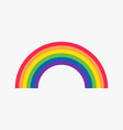 rainbow flat icon vector image vector image