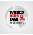 Red ribbon of AIDS day vector image