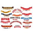 Repair construction carpentry icons set vector image vector image