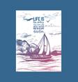 sailing boat inspiration sketch vector image
