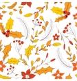 Seamless autumn garden pattern vector image vector image