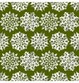 Seamless christmas origami snowflake pattern vector image