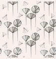 Seamless pattern with dandelions