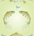 Seamless texture American trout vector image vector image
