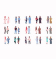 set different arabic business couple standing vector image