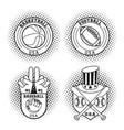 set of usa emblem vector image