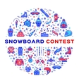 Snowboard competition Snowboarding contest vector image vector image