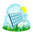 solar panel on the meadow vector image vector image